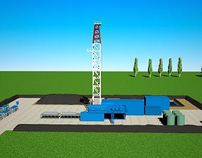 Drilling area 3D model oilfield