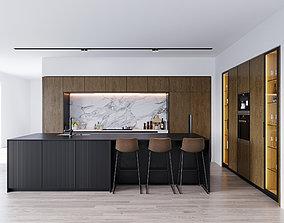 3D model Modern kitchen 6