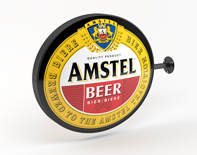 3D Amstel Beer Wall Sign