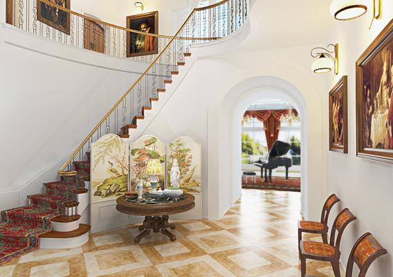 Stairs (Blender + VRay)