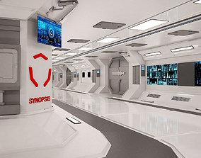 Sci-Fi Spaceship Corridor 3D asset