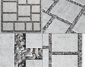 Tile square pebble n8 low 3D