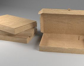 3D model Cardboard Box Open and Close