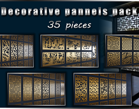 Decorative pannels pack - 35 pieces 3D