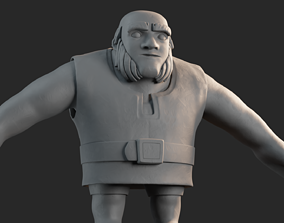 3D Mud Giant Clash of Clans High Poly