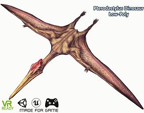 3D asset Pterodactyls Flying Dinosaur Low Poly