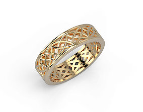 3D print model 140305 R engagement ring with patterns Pol