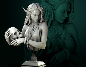 3D print model Laedria the Necromancer bust pre-supported