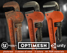 realtime Pipe wrench - 3D PBR model