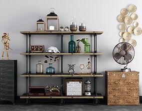 3D decorative vintage shelves