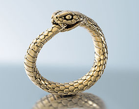 Snake Ring Ouroboros 3D print model