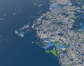Singapore city 3d model satellite