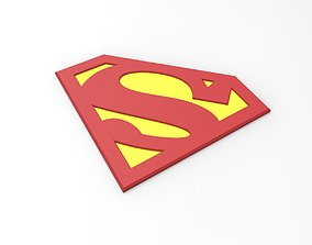 3D printable Superman emblem for cosplay costume