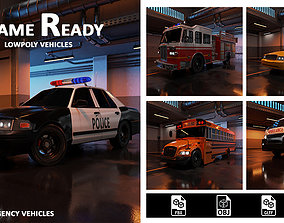 Modern 3d lowpoly service vehicle realtime