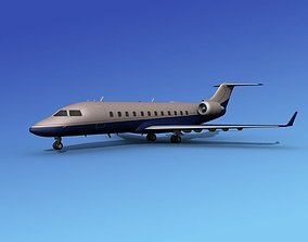 3D model Canadair CRJ100 Executive