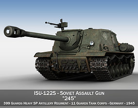 ISU-122S - 245 - Soviet Assault Gun 3D model