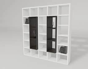 shelf with accessories 3D