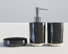 Bathroom Set Black 3D