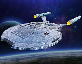 Star Trek Discovery Space Ship 3D model