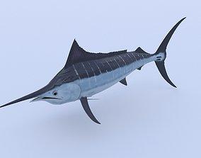 Marlin 3D model animated