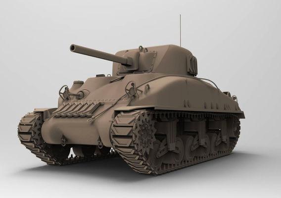 M4 Sherman highpoly tank.
