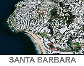 3D asset Santa Barbara