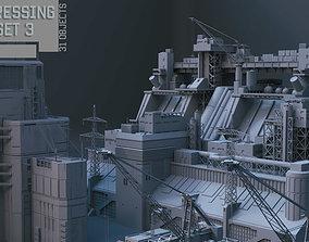 Scifi dressing kitbash set 3 3D asset