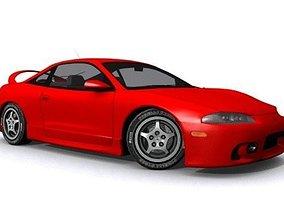 Mitsubishi Eclipse 1995 3D asset realtime