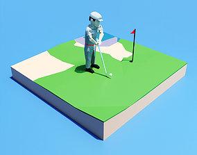 Golf Playing 3D model