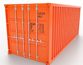 3D asset VR / AR ready Shipping Container 20ft