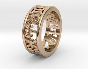 3D print model 55size Constellation symbol ring