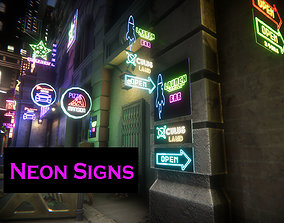 Neon Signs for Unreal 3D asset