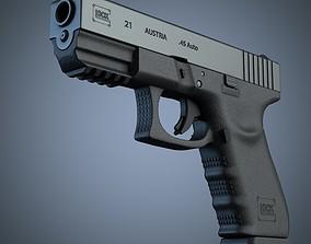 3D Glock 21 handgun