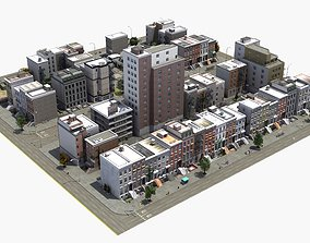 Residential City Block 3D model construction