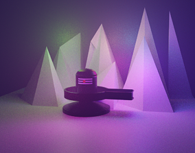3D model shivling low poly