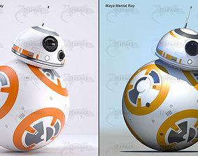 BB-8 Star Wars Droid Rigged 3D model