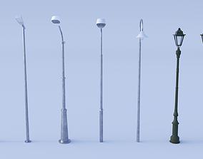 Street Light Pole 3D model
