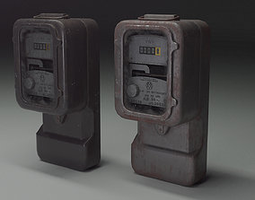 Old electric meter 3D model