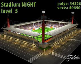 Stadium Level 5 Night 3D asset
