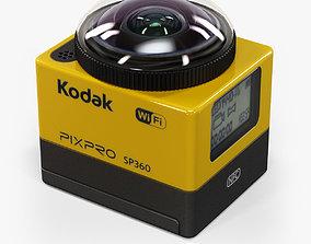 3D model Kodak Pixpro SP360 vr action camera