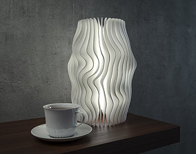 Wave lamp 5 high quality version 3D printable model
