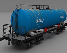 3D Aral rusty train tanker car