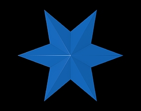 3D asset 6 Point Star