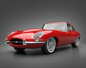 1961 Jaguar E-Type 3 8 Coupe 3D