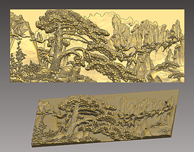 Tree on the top of the mountain 3D print model