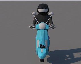 3D asset moped