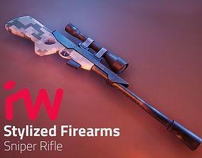 3D asset Stylized Sniper Rifle