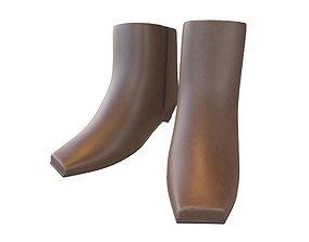 3D asset Square Toe Short Boots v1 002