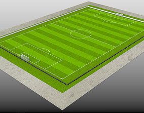 3D asset Football-Soccer Field FIFA dimensions