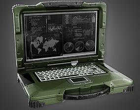 Military Field Computer - MLT - PBR Game Ready 3D asset